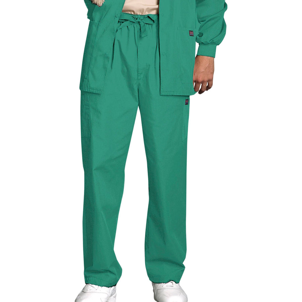Cherokee Workwear 4000 Scrubs Pants Men's Drawstring Cargo Surgical Green