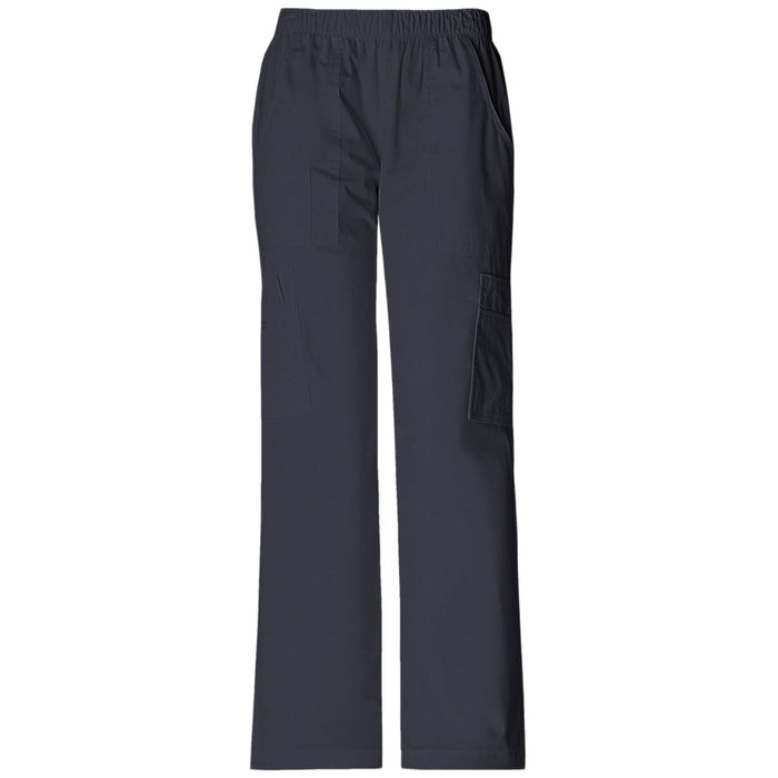 Cherokee Workwear Core Stretch 4005 Scrubs Pants Women's Mid Rise Pull-On Cargo Pewter
