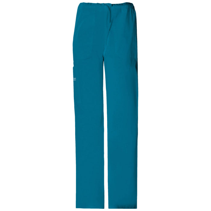 Cherokee Workwear Core Stretch 4043 Scrubs Pants Unisex Drawstring Cargo Caribbean Blue