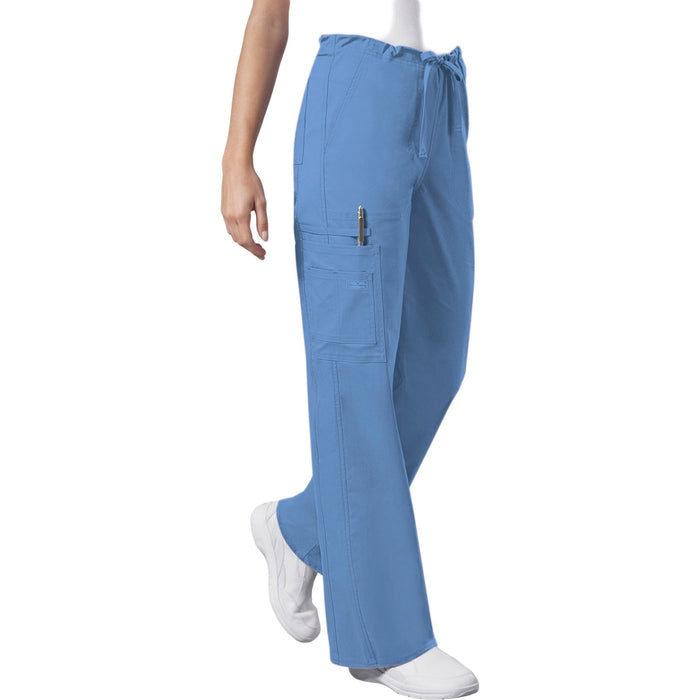 Cherokee Workwear Core Stretch 4043 Scrubs Pants Unisex Drawstring Cargo Ciel Blue