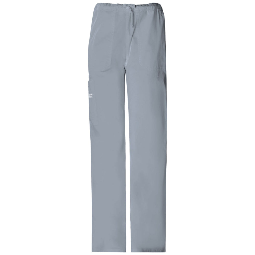 Cherokee Workwear Core Stretch 4043 Scrubs Pants Unisex Drawstring Cargo Grey