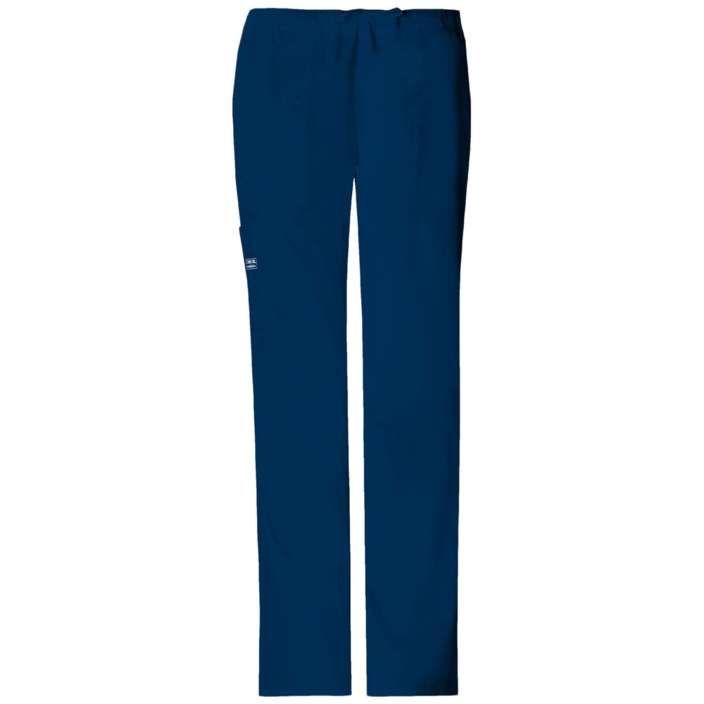 Cherokee Workwear Core Stretch 4044 Scrubs Pants Women's Mid Rise Drawstring Cargo Navy