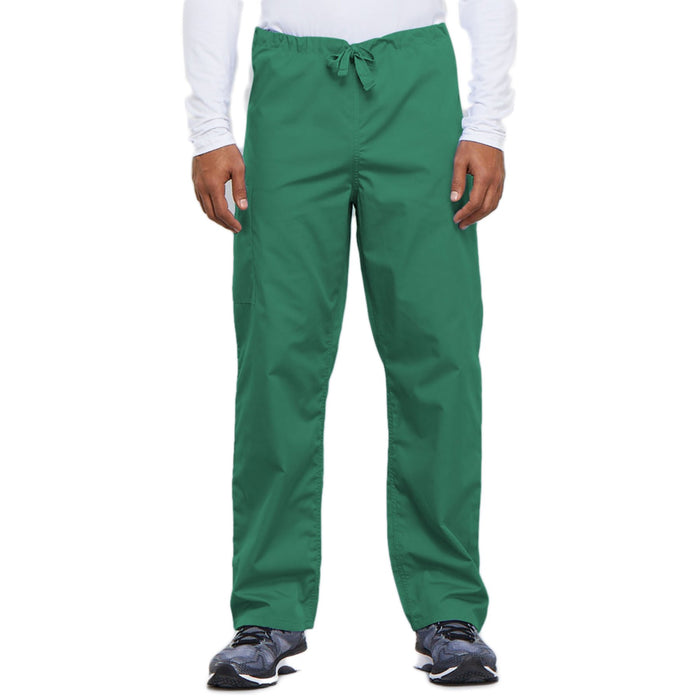 Cherokee Workwear 4100 Scrubs Pants Unisex Drawstring Cargo Surgical Green