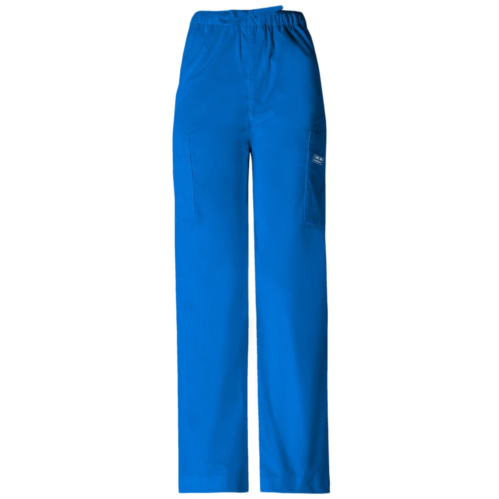 Cherokee Workwear Core Stretch 4243 Scrubs Pants Men's Drawstring Cargo Royal