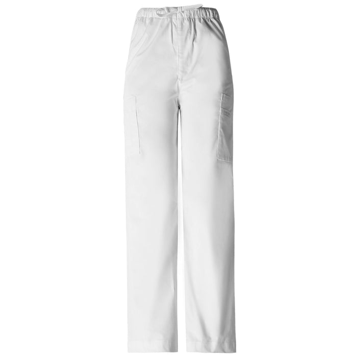 Cherokee Workwear Core Stretch 4243 Scrubs Pants Men's Drawstring Cargo White