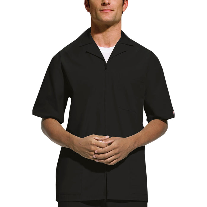 Cherokee Workwear 4300 Scrubs Jacket Men's Zip Front Black