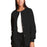 Cherokee Workwear 4350 Scrubs Jacket Women's Snap Front Warm-Up Black