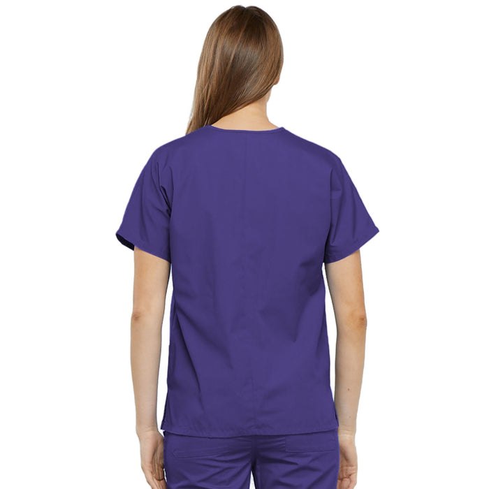 Cherokee Workwear 4700 Scrubs Top Women's V-Neck Grape 3XL