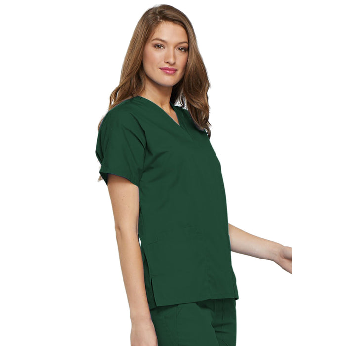 Cherokee Workwear 4700 Scrubs Top Women's V-Neck Hunter Green 5XL