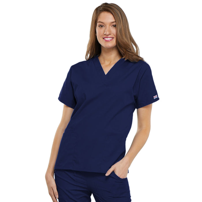 Cherokee Workwear 4700 Scrubs Top Women's V-Neck Navy