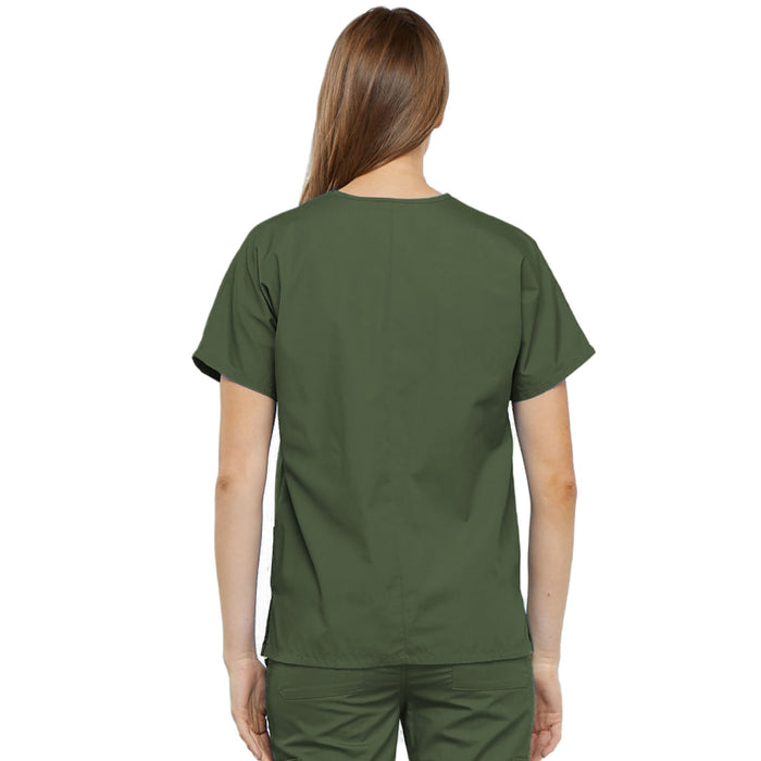 Cherokee Workwear 4700 Scrubs Top Women's V-Neck Olive 3XL