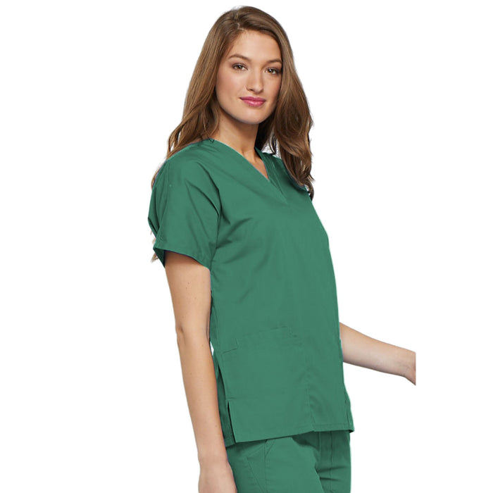 Cherokee Workwear 4700 Scrubs Top Women's V-Neck Surgical Green 5XL