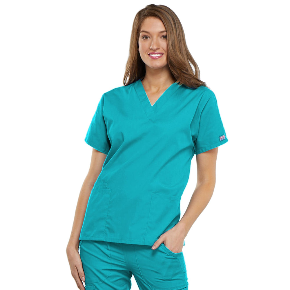 Cherokee Workwear 4700 Scrubs Top Women's V-Neck Turquoise
