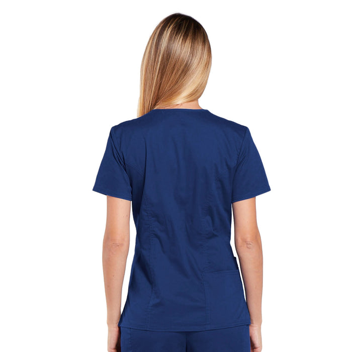 Cherokee Core Stretch 4710 Scrubs Top Women's V-Neck Navy 4XL