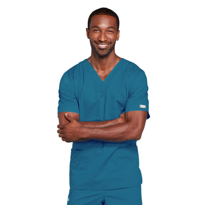 Cherokee Core Stretch 4725 Scrubs Top Unisex V-Neck Caribbean Blue