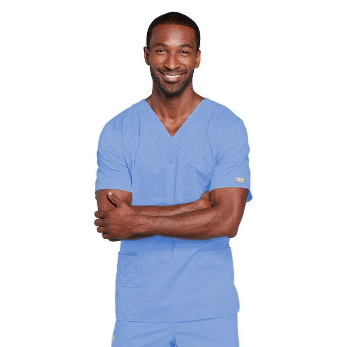 Cherokee Core Stretch 4725 Scrubs Top Unisex V-Neck Ciel Blue