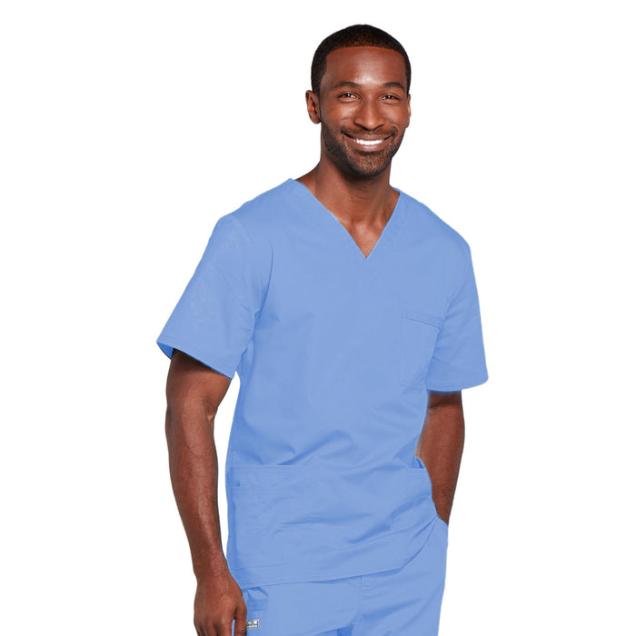 Cherokee Core Stretch 4725 Scrubs Top Unisex V-Neck Ciel Blue 5XL