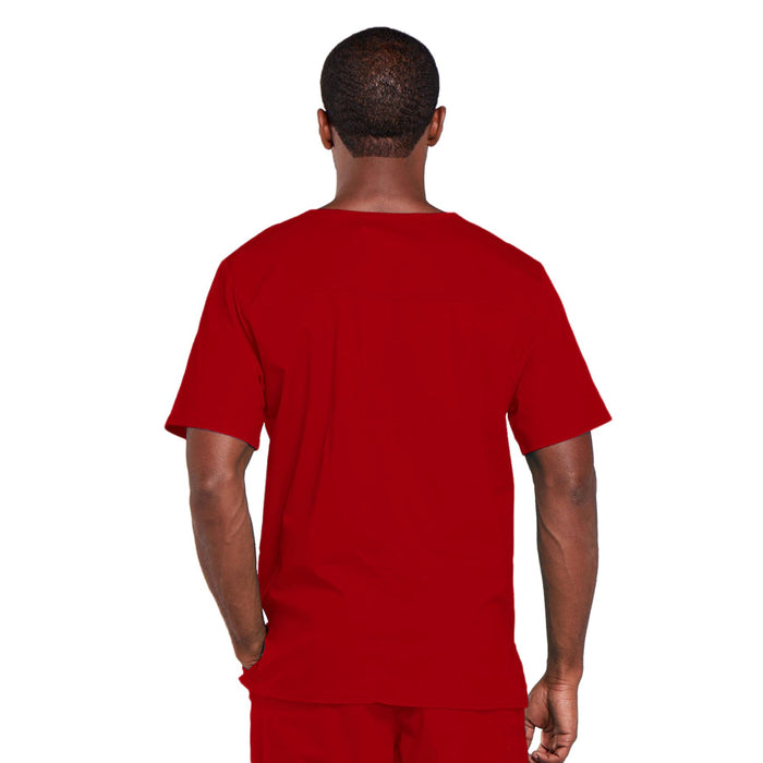 Cherokee Core Stretch 4725 Scrubs Top Unisex V-Neck Red 3XL