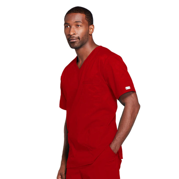 Cherokee Core Stretch 4725 Scrubs Top Unisex V-Neck Red 4XL