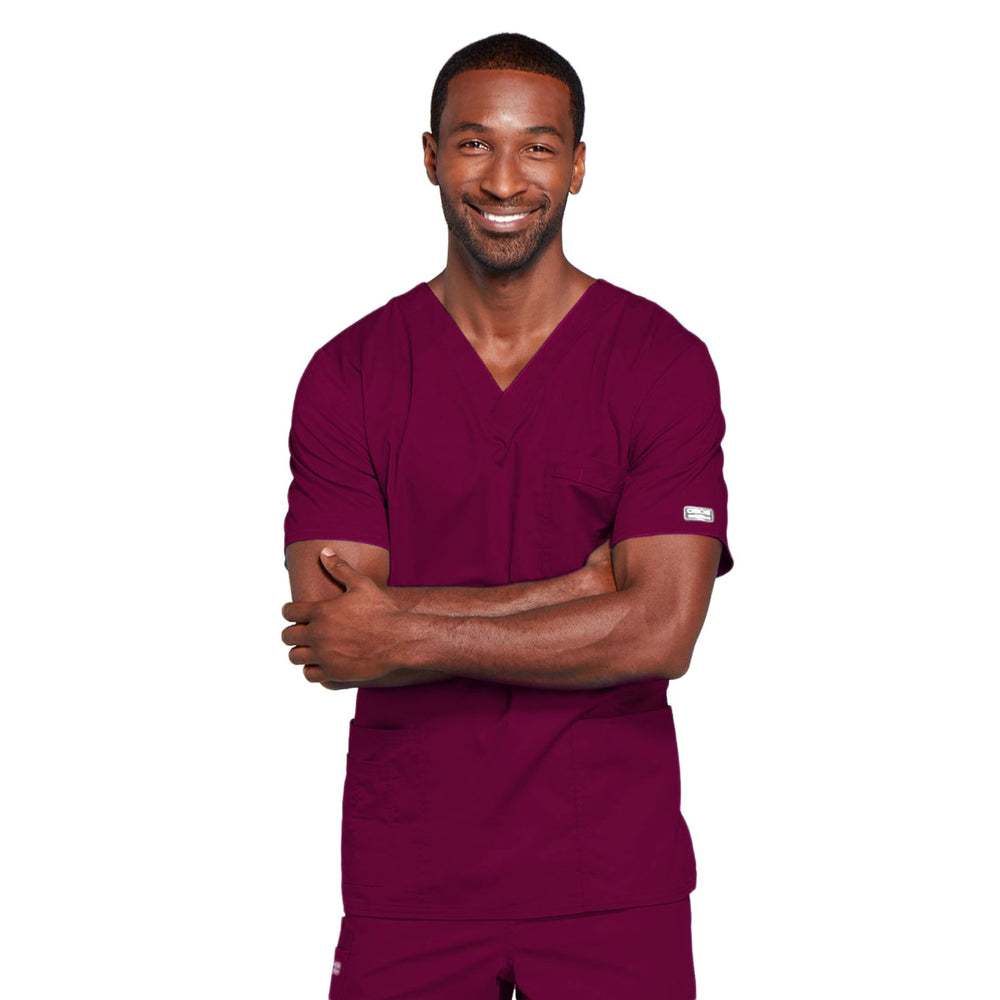 Cherokee Core Stretch 4725 Scrubs Top Unisex V-Neck Wine
