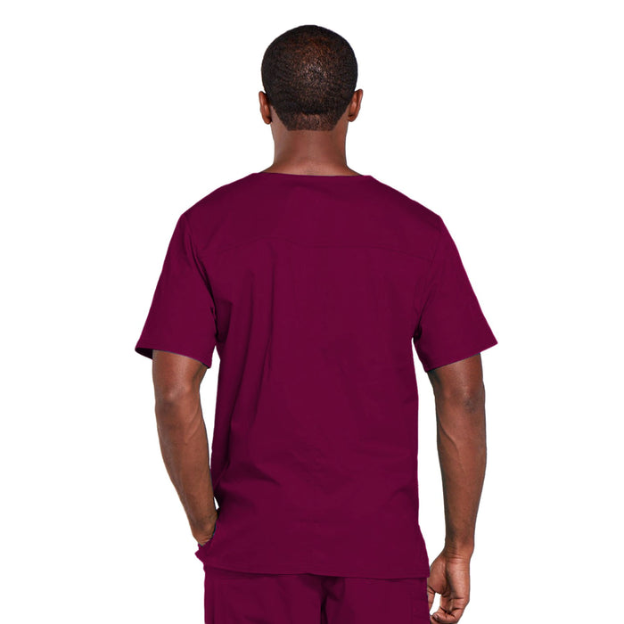 Cherokee Core Stretch 4725 Scrubs Top Unisex V-Neck Wine 3XL