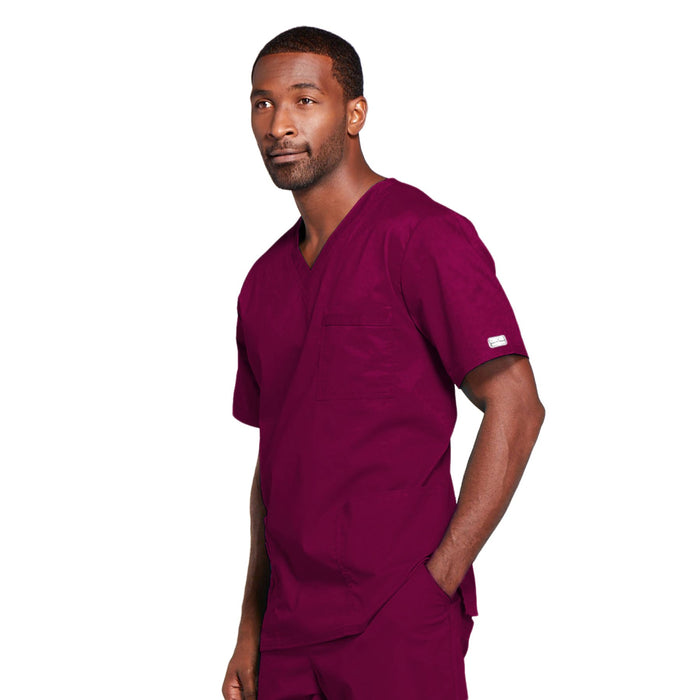 Cherokee Core Stretch 4725 Scrubs Top Unisex V-Neck Wine 4XL