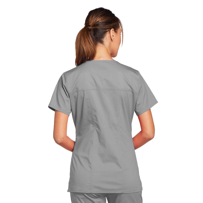 Cherokee Core Stretch 4727 Scrubs Top Women's V-Neck Grey 3XL