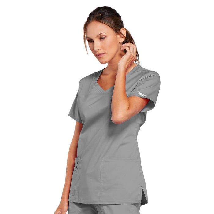 Cherokee Core Stretch 4727 Scrubs Top Women's V-Neck Grey 4XL