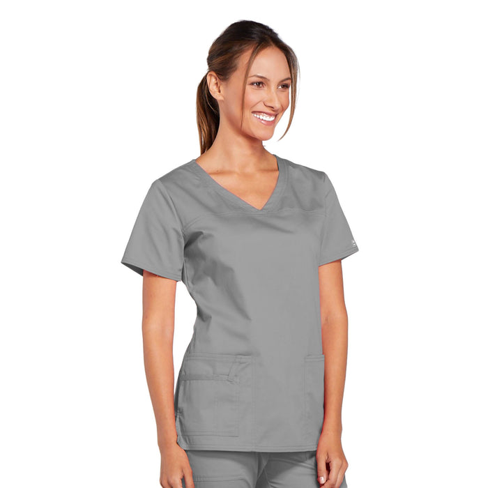 Cherokee Core Stretch 4727 Scrubs Top Women's V-Neck Grey 5XL