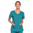 Cherokee Core Stretch 4727 Scrubs Top Women's V-Neck Teal Blue