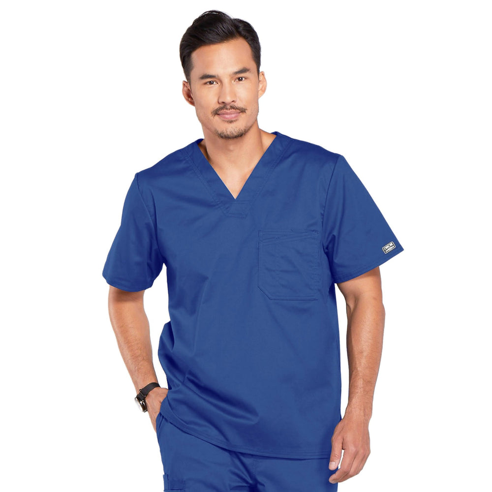Cherokee Core Stretch 4743 Scrubs Top Men's V-Neck Galaxy Blue