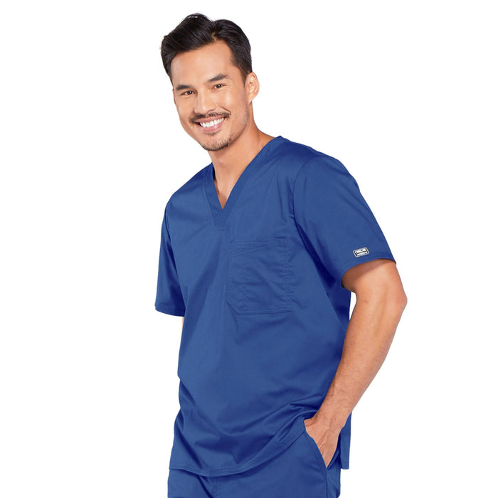 Cherokee Core Stretch 4743 Scrubs Top Men's V-Neck Galaxy Blue 3XL