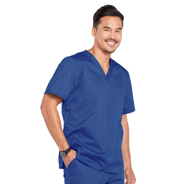 Cherokee Core Stretch 4743 Scrubs Top Men's V-Neck Galaxy Blue 4XL
