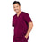 Cherokee Core Stretch 4743 Scrubs Top Men's V-Neck Wine 3XL
