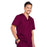 Cherokee Core Stretch 4743 Scrubs Top Men's V-Neck Wine 4XL