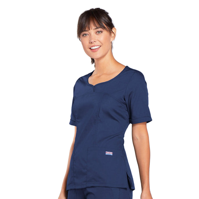Cherokee Workwear 4746 Scrubs Top Women's V-Neck Navy 3XL