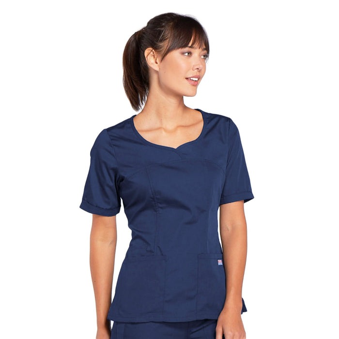 Cherokee Workwear 4746 Scrubs Top Women's V-Neck Navy 4XL