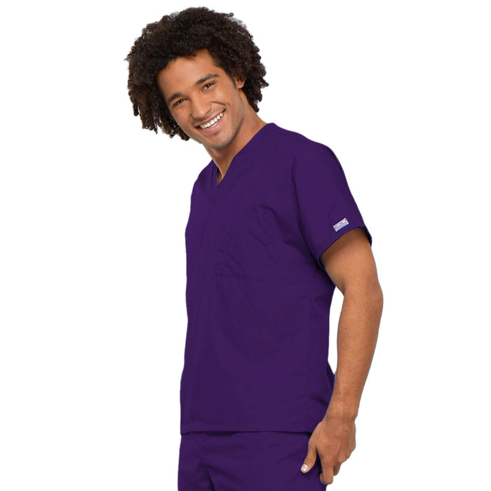 Cherokee Workwear 4777 Scrubs Top Unisex V-Neck Tunic. Eggplant 3XL