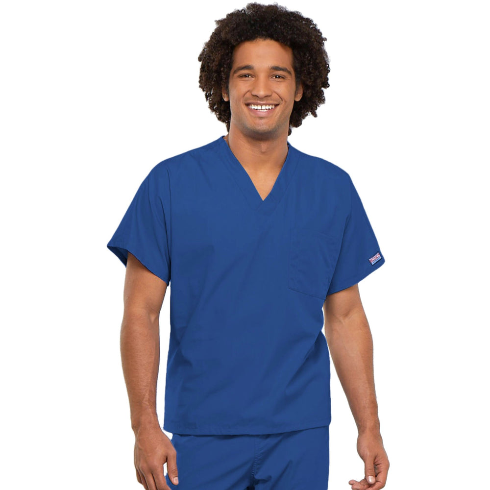 Cherokee Workwear 4777 Scrubs Top Unisex V-Neck Tunic. Royal