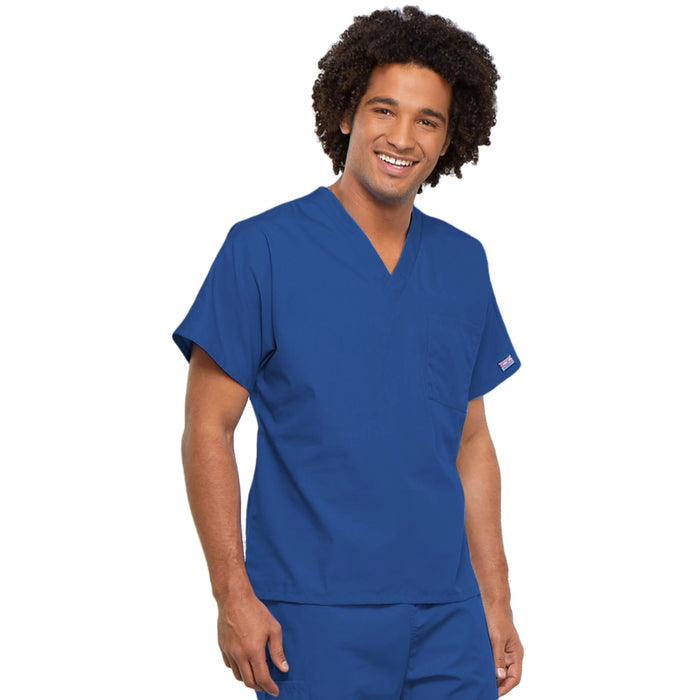 Cherokee Workwear 4777 Scrubs Top Unisex V-Neck Tunic. Royal 4XL