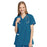 Cherokee Workwear 4801 Scrubs Top Women's Mock Wrap Tunic Caribbean Blue