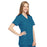 Cherokee Workwear 4801 Scrubs Top Women's Mock Wrap Tunic Caribbean Blue 4XL