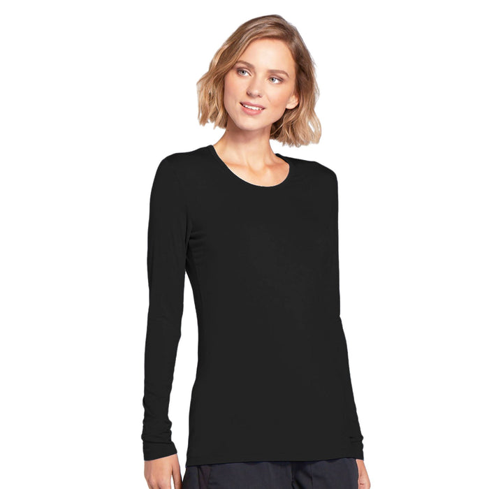 Cherokee Workwear 4881 Underscrubs Women's Long Sleeve Knit Tee Black M