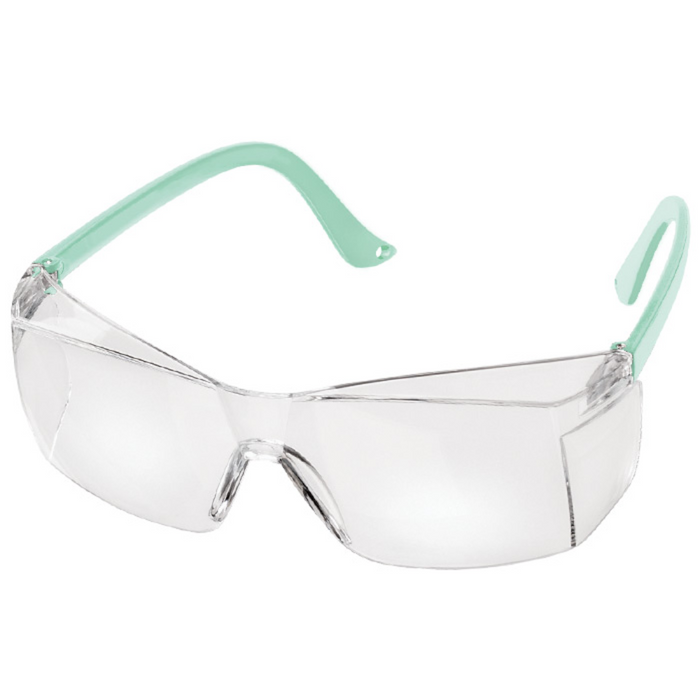 Prestige Colored Temple Safety Glasses Aqua Sea