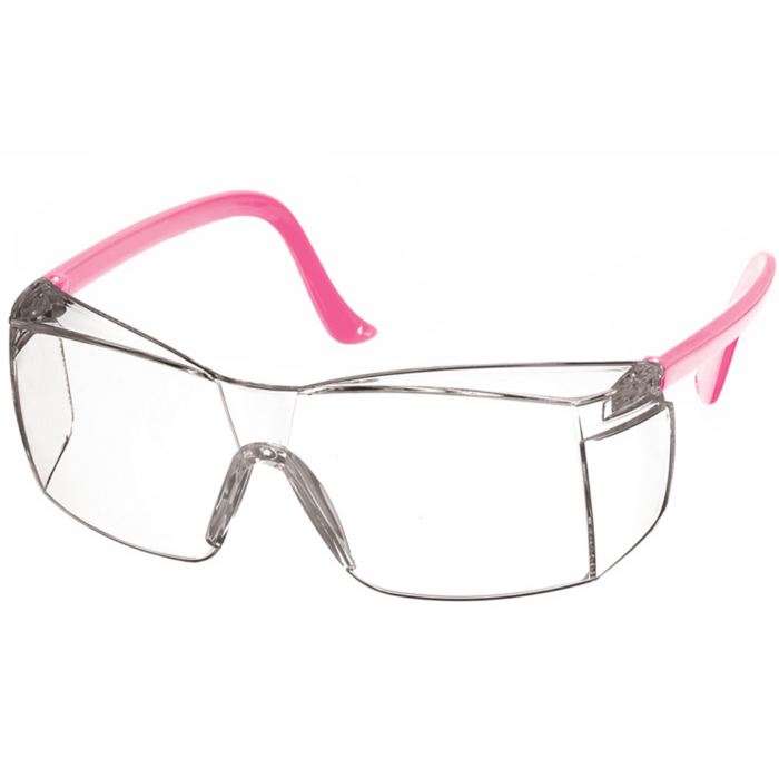 Prestige Colored Temple Safety Glasses Hot Pink