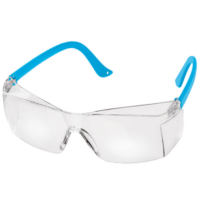 Prestige Colored Temple Safety Glasses Neon Blue
