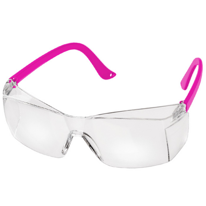Prestige Colored Temple Safety Glasses Neon Pink