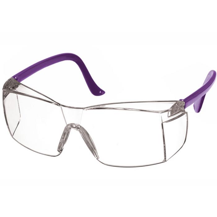 Prestige Colored Temple Safety Glasses Purple