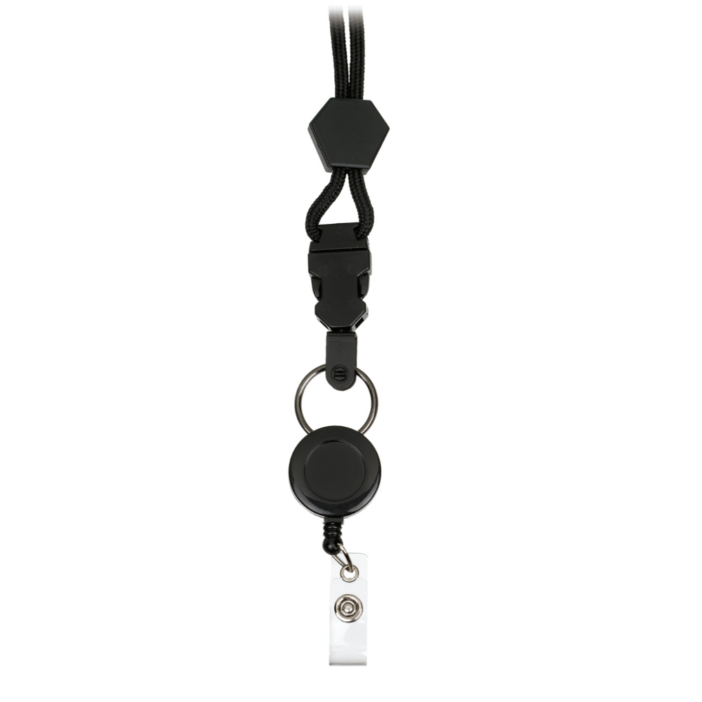 Prestige Retractable Neck Lanyard Black