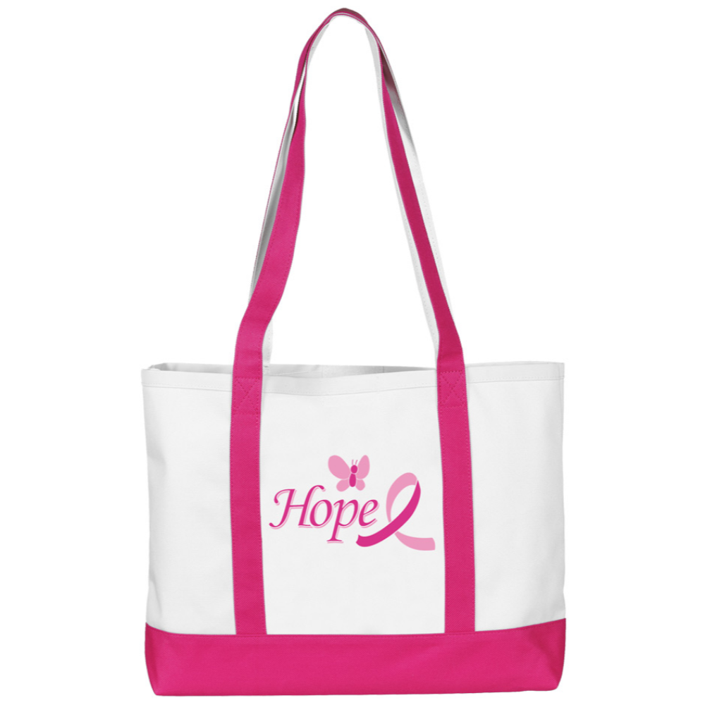 Prestige Large Tote Bag Pink and White